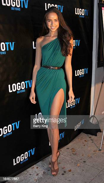 Model Coco Hunter attends the Los Angeles Premiere of 'Chasing Beauty' on March 25 2013 at Laemmle Music Hall in Beverly Hills California
