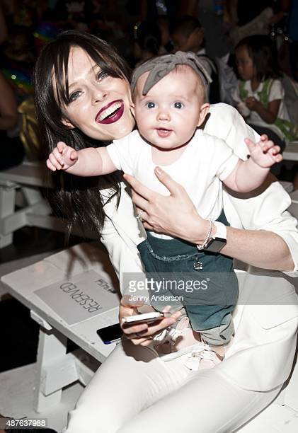 Model Coco Rocha and daughter Ioni James Conran attend Paul Frank Industries Kid's Show at Hudson Mercantile on September 10 2015 in New York City