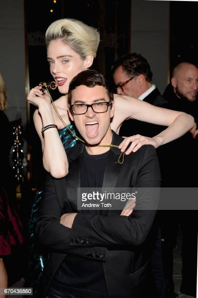 Model Coco Rocha and designer Christian Siriano attend Harper's BAZAAR 150th Anniversary Event presented with Tiffany Co at The Rainbow Room on April...