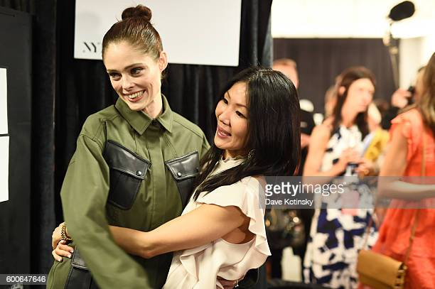 Model Coco Rocha and designer Marissa Webb backstage at the Marissa Webb show during New York Fashion Week The Shows September 2016 at The Gallery...