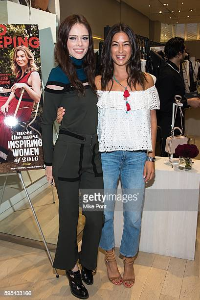 Model Coco Rocha and designer Rebecca Minkoff attend the 2016 Good Housekeeping Awesome Women Awards Cocktail Celebration at Rebecca Minkoff on...