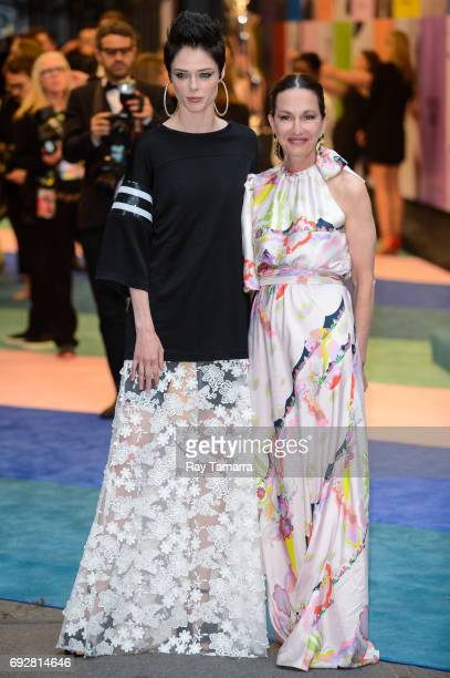 Model Coco Rocha and fashion designer Cynthia Rowley enter the CFDA Fashion Awards at Hammerstein Ballroom on June 5 2017 in New York City