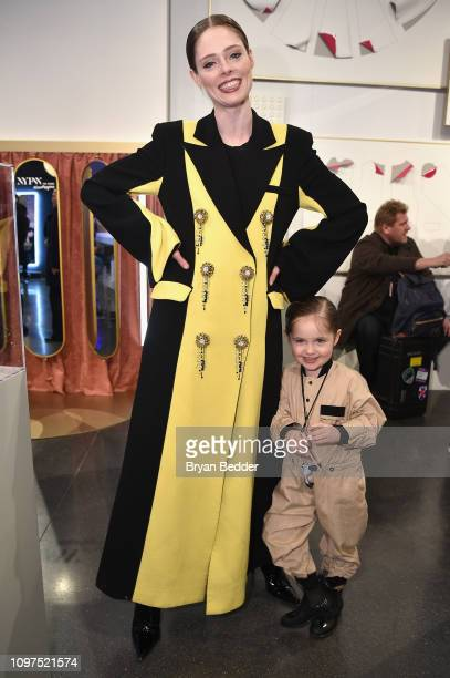 Model Coco Rocha and her daughter Ioni James Conran visit The Café by Papyrus during New York Fashion Week: The Shows at Spring Studios on February...