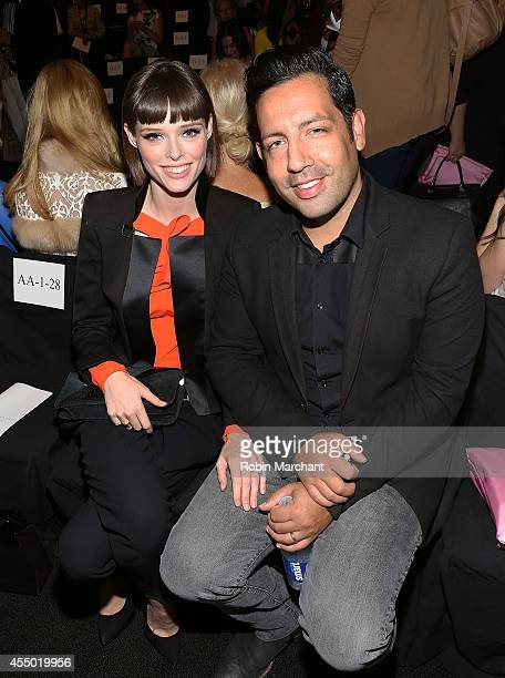 Model Coco Rocha and husband James Conran attend Dennis Basso during MercedesBenz Fashion Week Spring 2015 at The Theatre at Lincoln Center on...