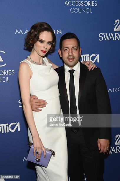 Model Coco Rocha and husband James Conran attend the 18th Annual Accessories Council ACE Awards At Cipriani 42nd Street at Cipriani 42nd Street on...