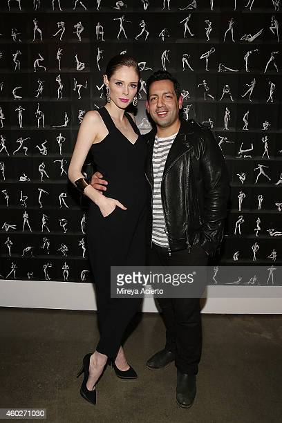 Model Coco Rocha and husband James Conran attend The Study Of Pose opening night at Milk Gallery on December 10 2014 in New York City