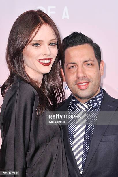 Model Coco Rocha and husband James Conran pose for photographers during the 2016 MakeAWish Metro New York Gala at Cipriani Wall Streeton June 9 2016...
