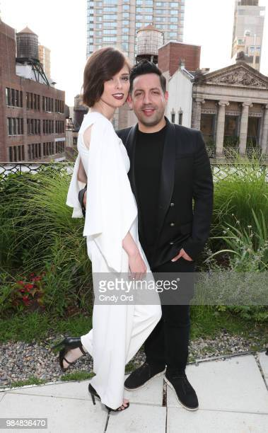 Model Coco Rocha and James Conran attend as Saks And American Express Platinum celebrate the Shop Saks With Platinum benefit launch with a summer...