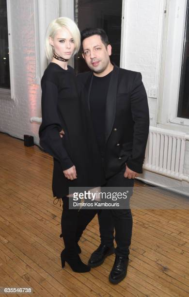 Model Coco Rocha and James Conran attend Marc Jacobs Beauty Celebrates Kaia Gerber on February 15, 2017 in New York City.