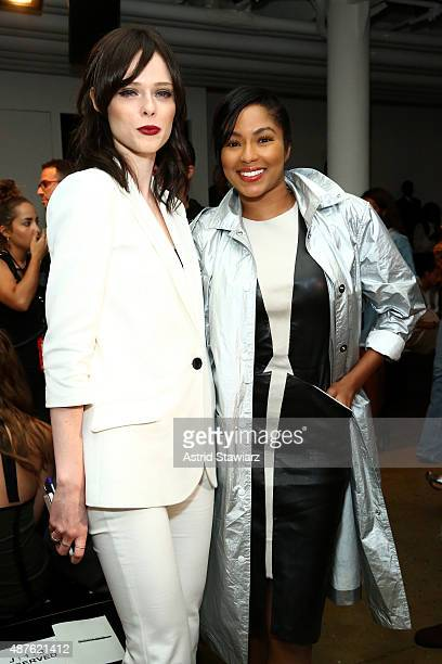 Model Coco Rocha and journalist Alicia Quarles attend the Marissa Webb fashion show during Spring 2016 MADE Fashion Week at Milk Studios on September...