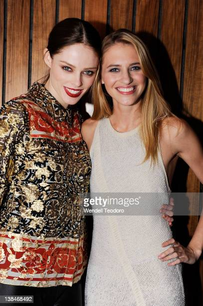 Model Coco Rocha and Model/Filmmaker Sara Ziff attends The Model Alliance launch at The High Line Room The Standard Hotel on February 6 2012 in New...