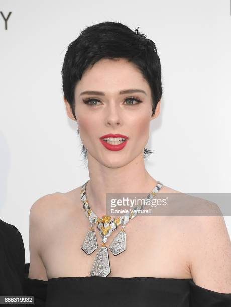 Model Coco Rocha arrives at the amfAR Gala Cannes 2017 at Hotel du CapEdenRoc on May 25 2017 in Cap d'Antibes France