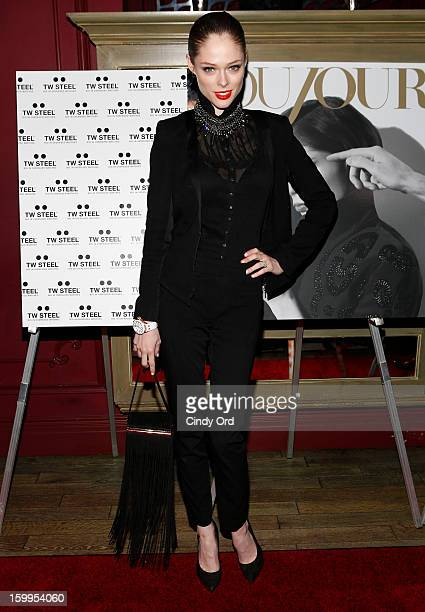Model Coco Rocha attends DuJour Magazine Gala with Coco Rocha and Nigel Barker presented by TW Steel at Scott Sartiano and Richie Akiva's The Darby...