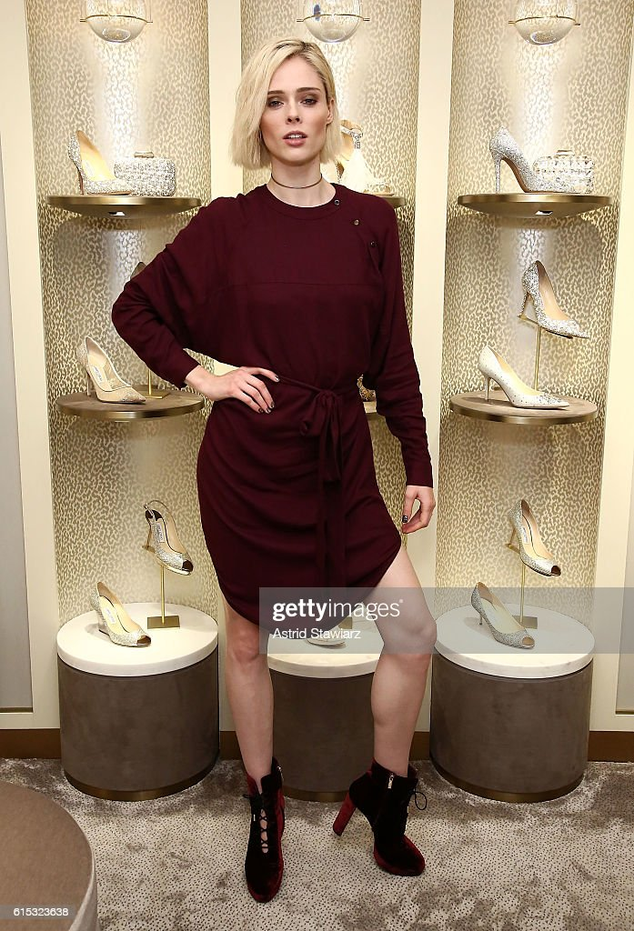 Model Coco Rocha attends Jimmy Choo x DKMS Charity Cocktail Party at Jimmy Choo on October 17, 2016 in New York City.