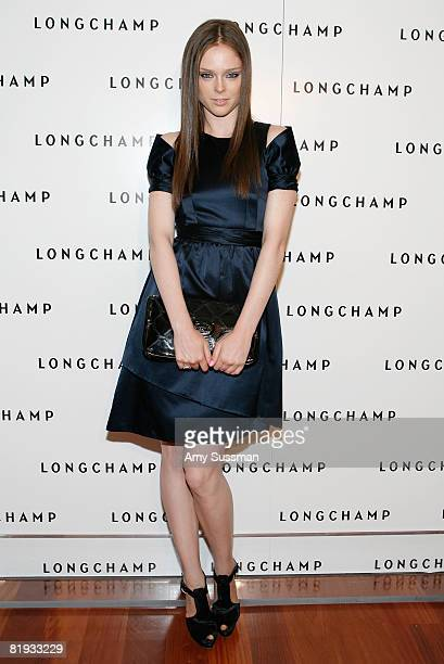 Model Coco Rocha attends Longchamp's 60th Anniversary celebration at La Maison Unique Longchamp on July 14 2008 in New York City