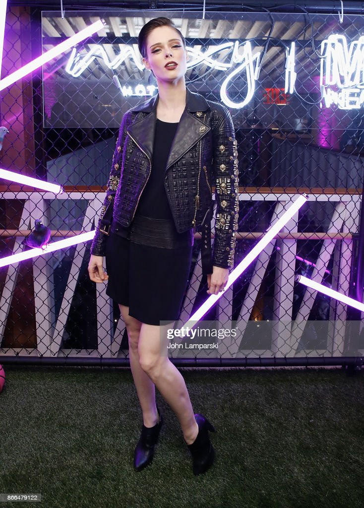Model Coco Rocha attends Moxy Times Square 'Coming Out' Party at Moxy Times Square on October 25, 2017 in New York City.