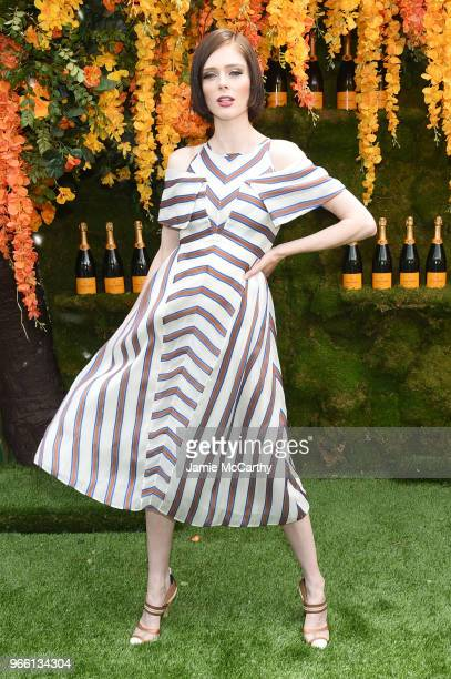 Model Coco Rocha attends the 11th annual Veuve Clicquot Polo Classic at Liberty State Park on June 2 2018 in Jersey City New Jersey