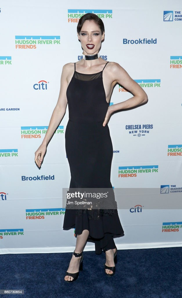 Model Coco Rocha attends the 2017 Hudson River Park gala at Hudson River Park's Pier 62 on October 12, 2017 in New York City.