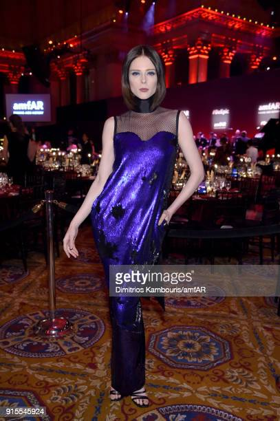 Model Coco Rocha attends the 2018 amfAR Gala New York at Cipriani Wall Street on February 7 2018 in New York City