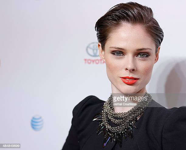 Model Coco Rocha attends the 5th Annual Women In The World Summit at the David Koch Theatre at Lincoln Center on April 3 2014 in New York City