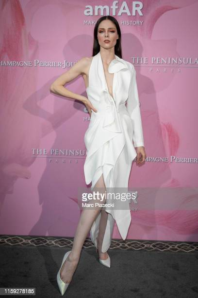 Model Coco Rocha attends the Amfar Gala At The Peninsula Hotel In Paris on June 30 2019 in Paris France