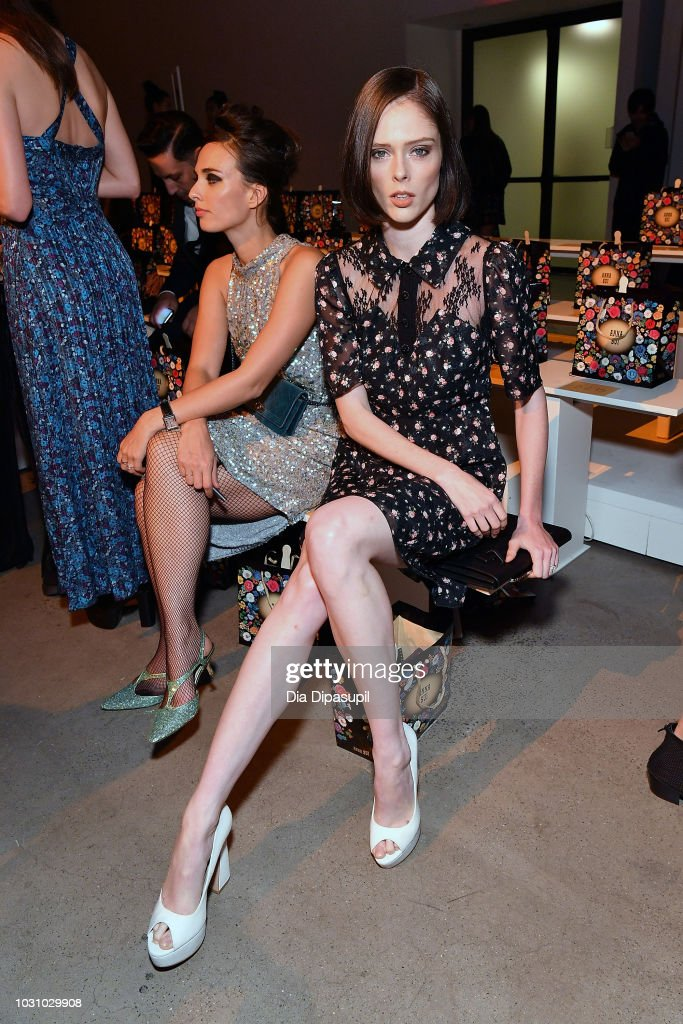 Model Coco Rocha attends the Anna Sui front row during New York Fashion Week: The Shows at Gallery I at Spring Studios on September 10, 2018 in New York City.