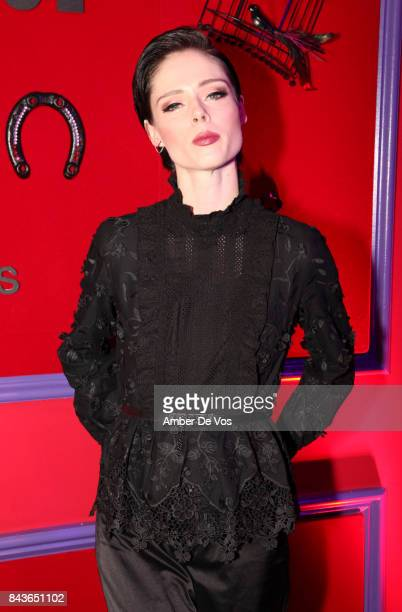 Model Coco Rocha attends the Anna Sui x INC International Concepts Launch Party at The Heath at the McKittrick Hotel on September 6, 2017 in New York...