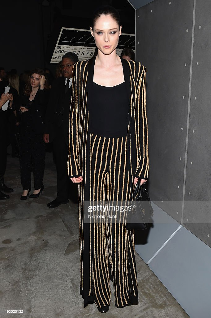 Model Coco Rocha attends the BALMAIN X H&M Collection Launch at 23 Wall Street on October 20, 2015 in New York City.