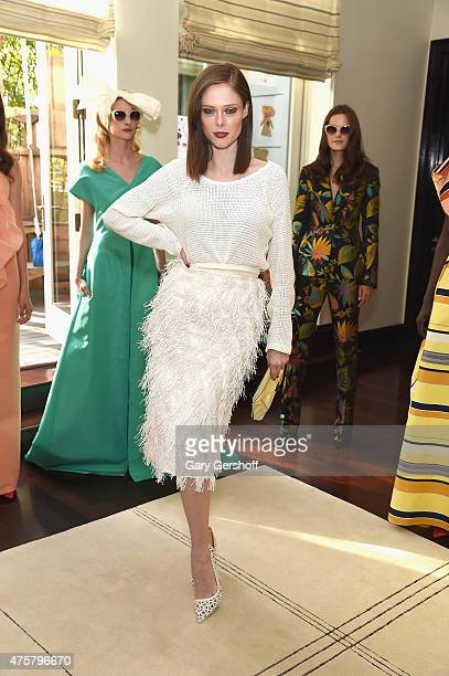Model Coco Rocha attends the Christian Siriano Resort 2016 Collection at Private Residence on June 3 2015 in New York City