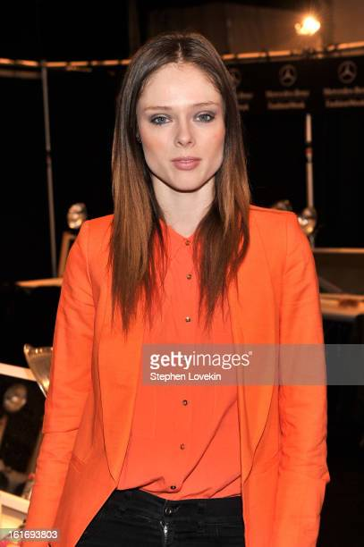 Model Coco Rocha attends The Decoded Fashion Forum Hackathon Finale Fall 2013 fashion show during MercedesBenz Fashion Week at The Stage at Lincoln...