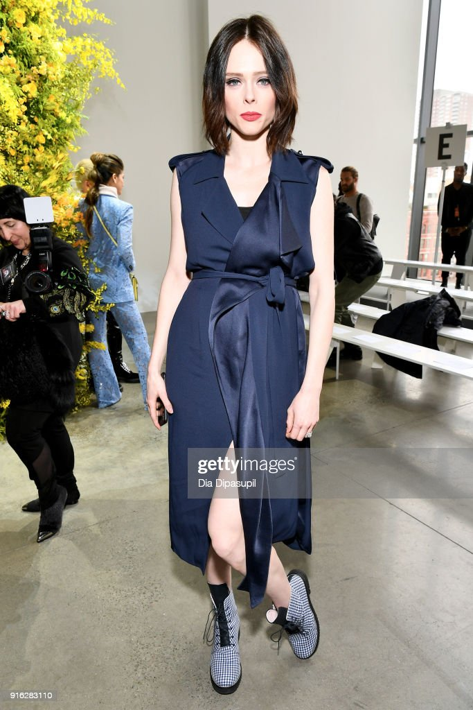 Model Coco Rocha attends the Jason Wu front row during New York Fashion Week: The Shows at Gallery I at Spring Studios on February 9, 2018 in New York City.