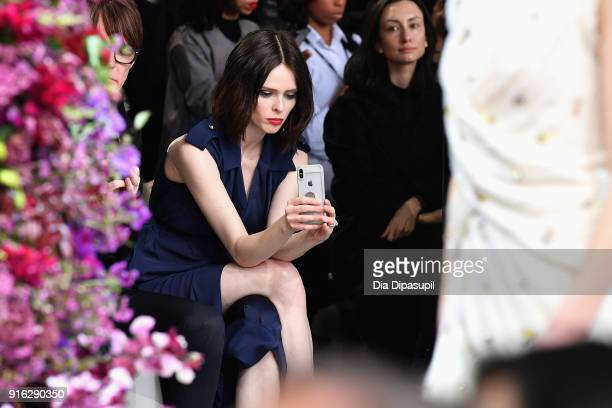 Model Coco Rocha attends the Jason Wu front row during New York Fashion Week The Shows at Gallery I at Spring Studios on February 9 2018 in New York...