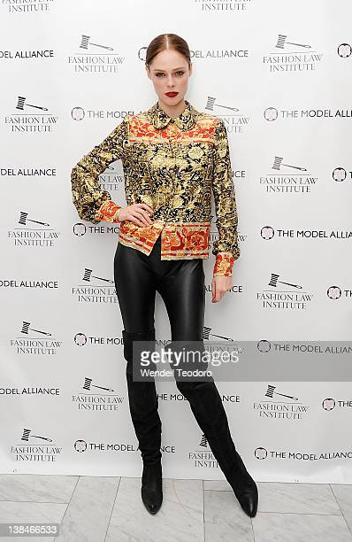 Model Coco Rocha attends The Model Alliance launch at The High Line Room The Standard Hotel on February 6 2012 in New York City