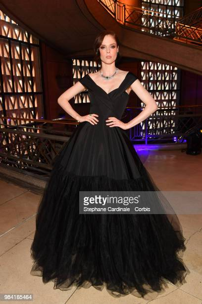 Model Coco Rocha attends the Piaget Sunlight Escape Paris 2018 High Jewellery Collection Party at Palais d'Iena on June 18 2018 in Paris France