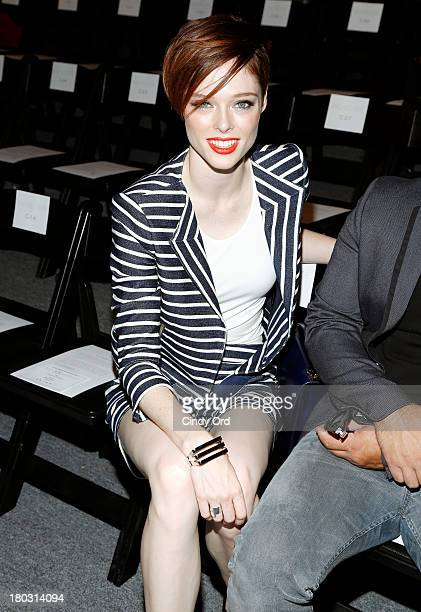 Model Coco Rocha attends the Rachel Zoe fashion show during MercedesBenz Fashion Week Spring 2014 at The Studio at Lincoln Center on September 11...