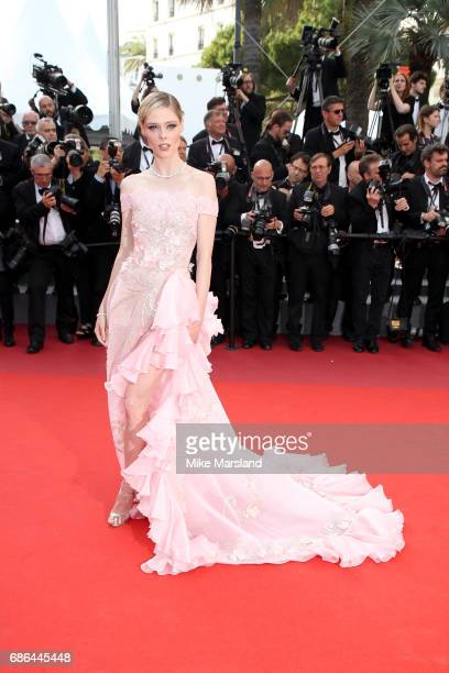 Model Coco Rocha attends the 'The Meyerowitz Stories' screening during the 70th annual Cannes Film Festival at Palais des Festivals on May 21 2017 in...