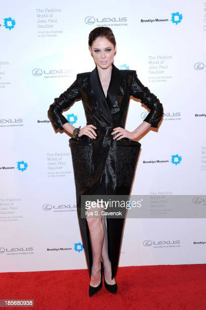 Model Coco Rocha attends the VIP reception and viewing for The Fashion World of Jean Paul Gaultier From the Sidewalk to the Catwalk at the Brooklyn...