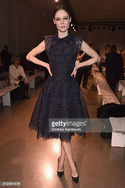 Model Coco Rocha attends the Zac Posen Fall 2016 fashion show during New York Fashion Week at Spring Studios on February 15 2016 in New York City