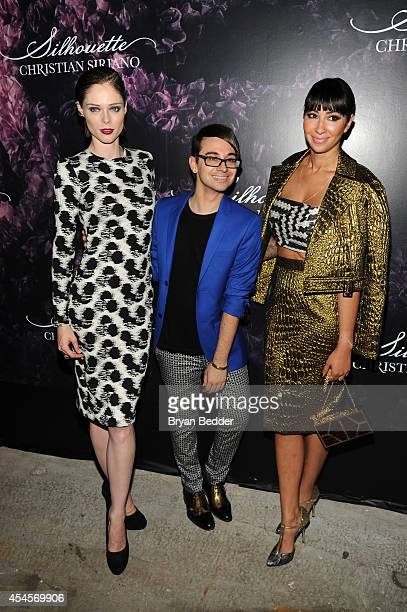Model Coco Rocha designer Christian Siriano and actress Jackie Cruz attend Christian Siriano's celebration of his new fragrance with a Stoli Vodka...