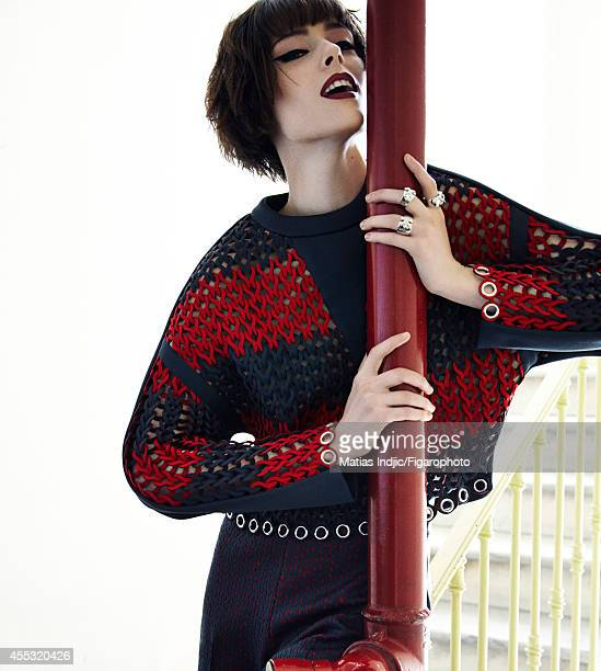 Model Coco Rocha is photographed for Madame Figaro on May 29 2014 in Paris France Sweater and pants rings Makeup by LOreal Paris PUBLISHED IMAGE...