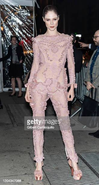 Model Coco Rocha is seen arriving to the 2020 amfAR New York Gala at Cipriani Wall Street on February 05 2020 in New York City
