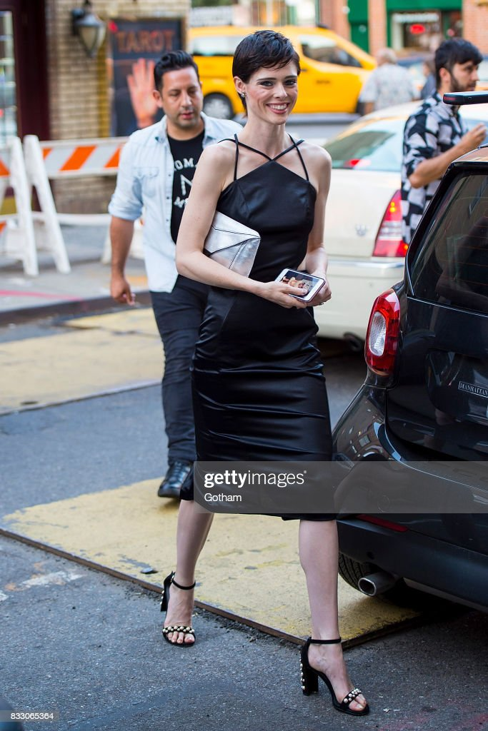 Model Coco Rocha is seen in Greenwich Village on August 16, 2017 in New York City.