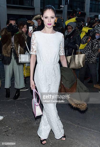 Model Coco Rocha is seen outside Diane Von Furstenberg Presentation Fall 2016 New York Fashion Week on February 14 2016 in New York City