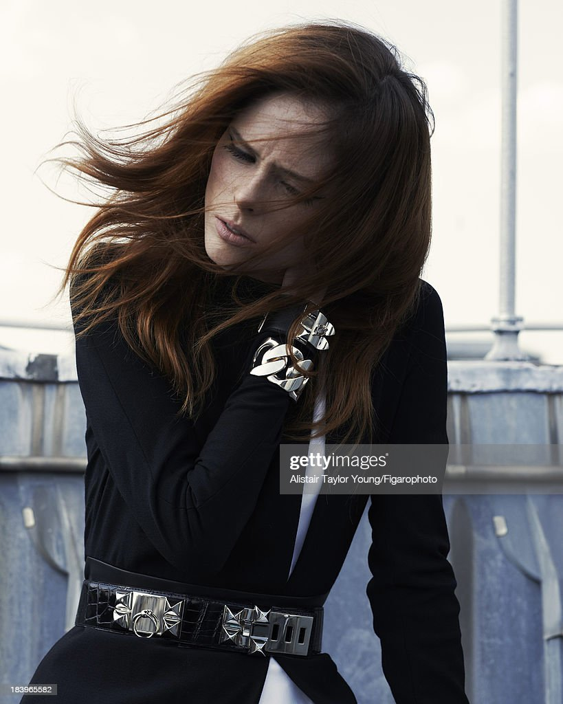 107230-018. Model Coco Rocha poses at a fashion shoot for Madame Figaro on July 19, 2013 in Paris, France. All (Hermes).