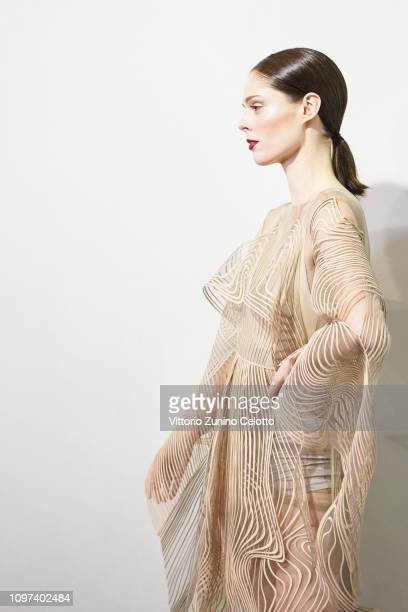 Model Coco Rocha poses backstage prior the Iris Van Herpen Spring Summer 2019 show as part of Paris Fashion Week on January 21 2019 in Paris France