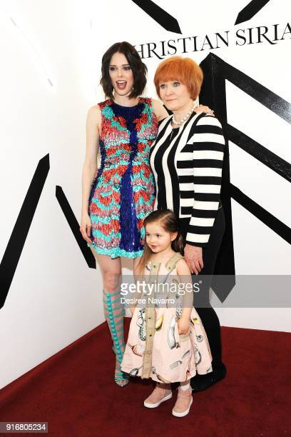 Model Coco Rocha Rocky Rocha and Ioni James Conran pose backstage for the Christian Siriano fashion show during New York Fashion Week at the Grand...