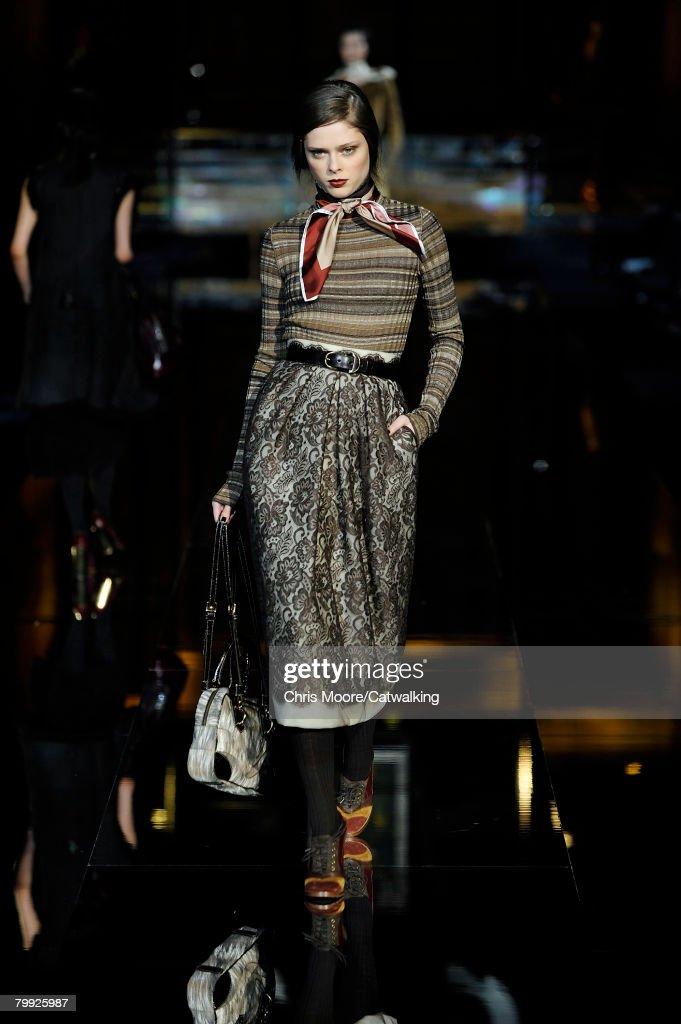281f6305099b Model Coco Rocha walks the runway at the Dolce   Gabbana Fall Winter ...