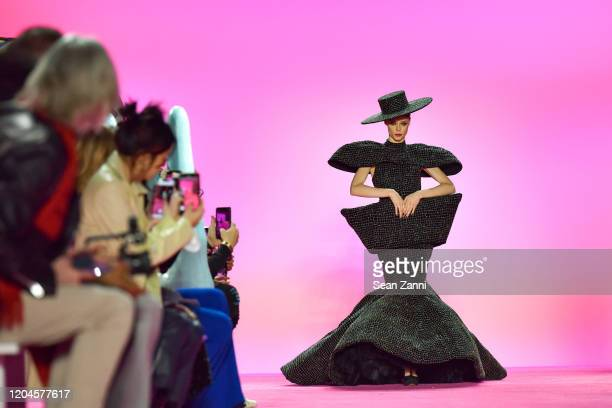 Model Coco Rocha walks the runway for the Christian Siriano AW 20 Fashion Show at Gallery I at Spring Studios on February 06, 2020 in New York City.