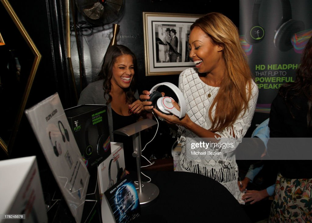 Model Coffey (R) and guest attend the Sean Kingston 'Back 2 Life' Listening Session Presented By Flips Audio at Bootsy Bellows on August 27, 2013 in West Hollywood, California.