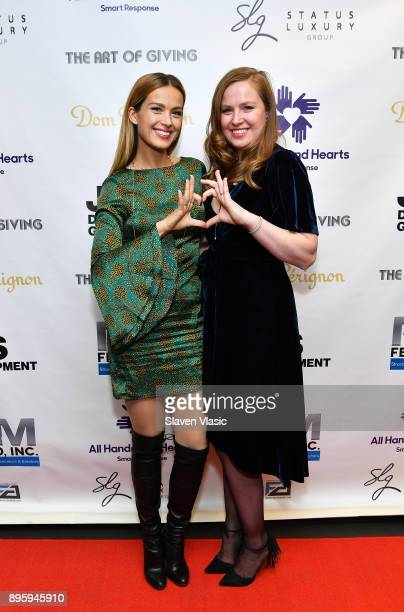 Model cofounder and vice chair of All Hands and Hearts Petra Nemcova and Chief of Organizational Integration and Advancement of All Hands and Hearts...